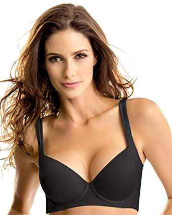 a77b61f375 Perfect Everyday Posture Corrector Bra- Leonisa Nude - Black -   Amazon.co.uk  Clothing