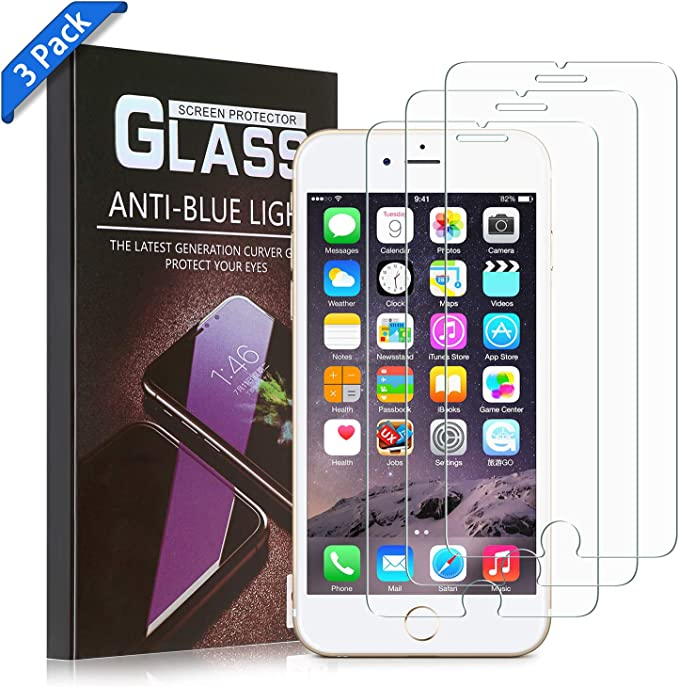 Anti-Bubbles 3D Touch Support 2.5D Round Edge Case Friendly Easy Install Tool 3-Pack UNBREAKcable Screen Protector for iPhone 8 Plus//7 Plus 9H Hardness Tempered Glass iPhone 8 Plus // 7 Plus