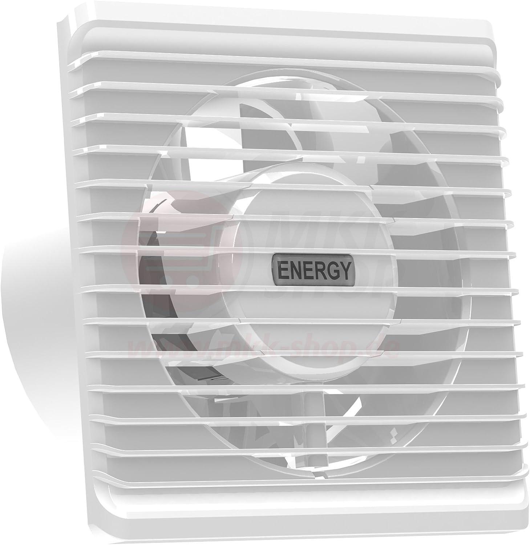 La energía baja cocina baño silenciosa campana extractora 125mm ingenio extracción ventilación sensor de humedad