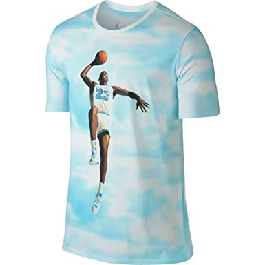 check out 6aac2 9b5ca Jordan Fly Over Men s T-Shirt White University Blue 725004-101 (Size