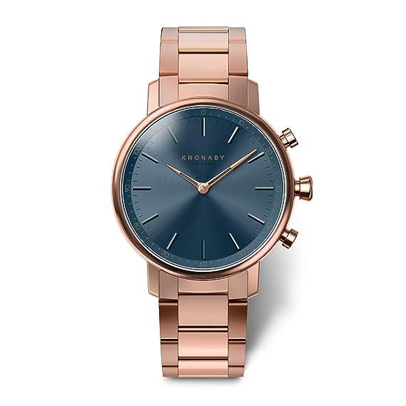 KRONABY Carat A1000-2445 - Reloj inteligente híbrido para mujer con diseño de reloj tradicional