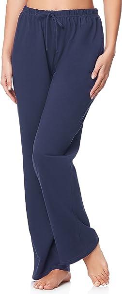 Merry Style Pantalones Largos de Pijamas 100% Algodón Mujer ...