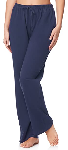 Ladeheid Pantalones de Pijama para Mujer LA40-119 (Azul Oscuro, S)