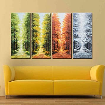 Amazon.com: ARTLAND Hand-painted 28x48-inch \'Go Through the Seasons ...