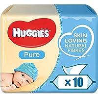 HUGGIES BABY WIPES PURE, 56s x 10 (560 Wipes)