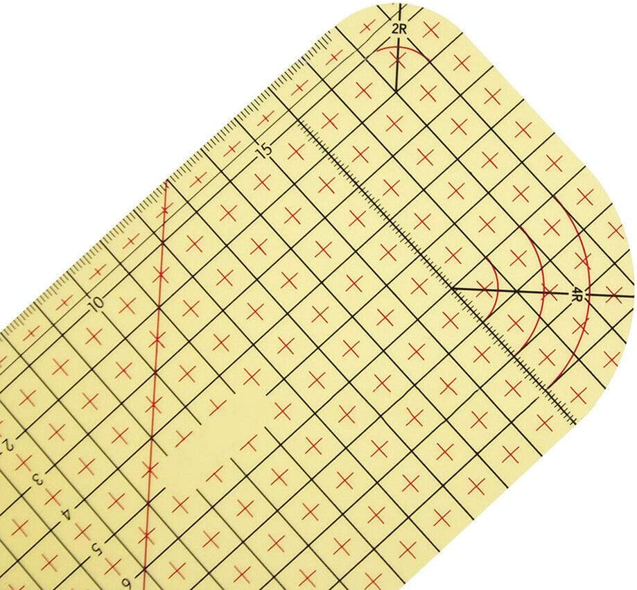 Measuring Handmade Tool New Tailor Craft DIY Sewing Supplies Rubywoo Hot Ironing Ruler Patch