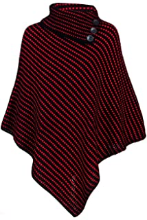 a3a1860431dcbe Pour Femmes À Carreaux Imprimé Femme Élastique Tricoté Col Chemise Cape  Châle Enveloppant Tricot Poncho Haut