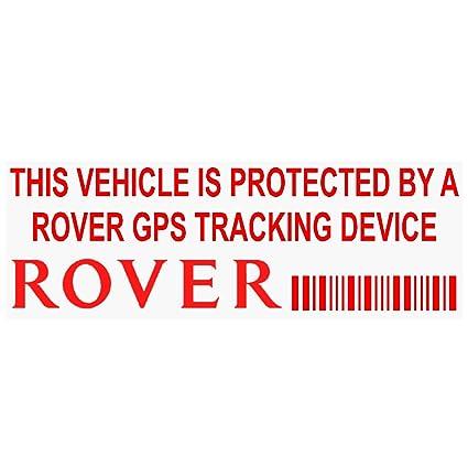 5 x pprovergpsred GPS rojo dispositivo de seguimiento de seguridad ventana pegatinas 87 x 30 mm