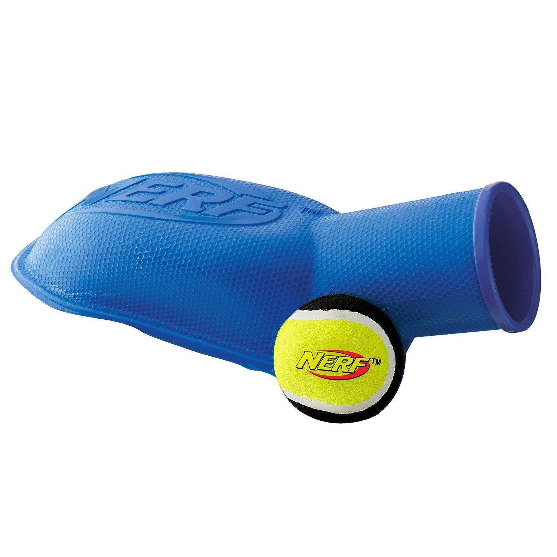 Amazon Nerf Dog Tennis Ball Stomp Launcher 12 Inch Blue Pet Supplies