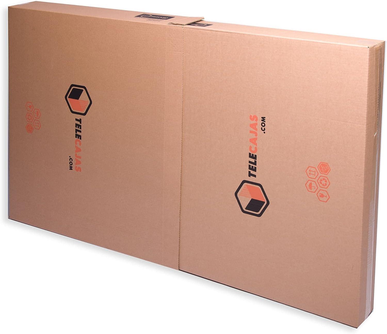 TeleCajas® | (5X) Cajas para Cuadros, Espejos, Televisor | Medidas: 81x13x130 cms | Doble Solapa y Canal Doble Resistente: Amazon.es: Hogar