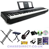 yamaha p45 digital 88 weighted key stage piano deluxe package p 45 p 45 musical. Black Bedroom Furniture Sets. Home Design Ideas