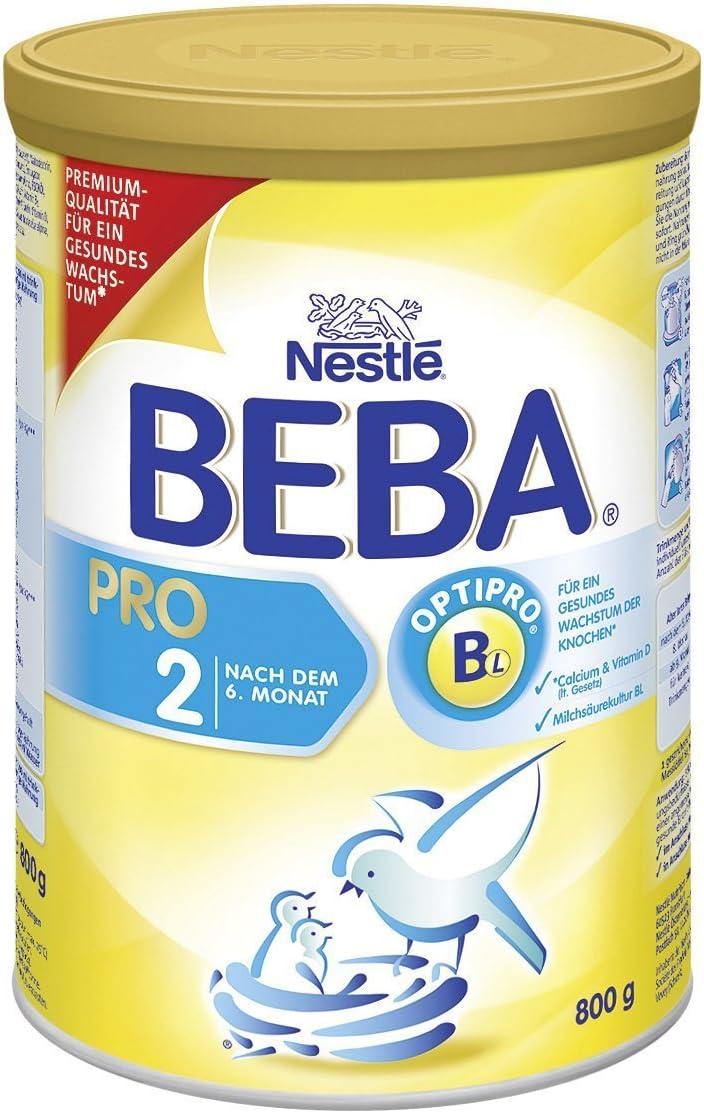 Beba Pro 2Folge Leche–Después de 6meses, 4unidades (4x 800g)