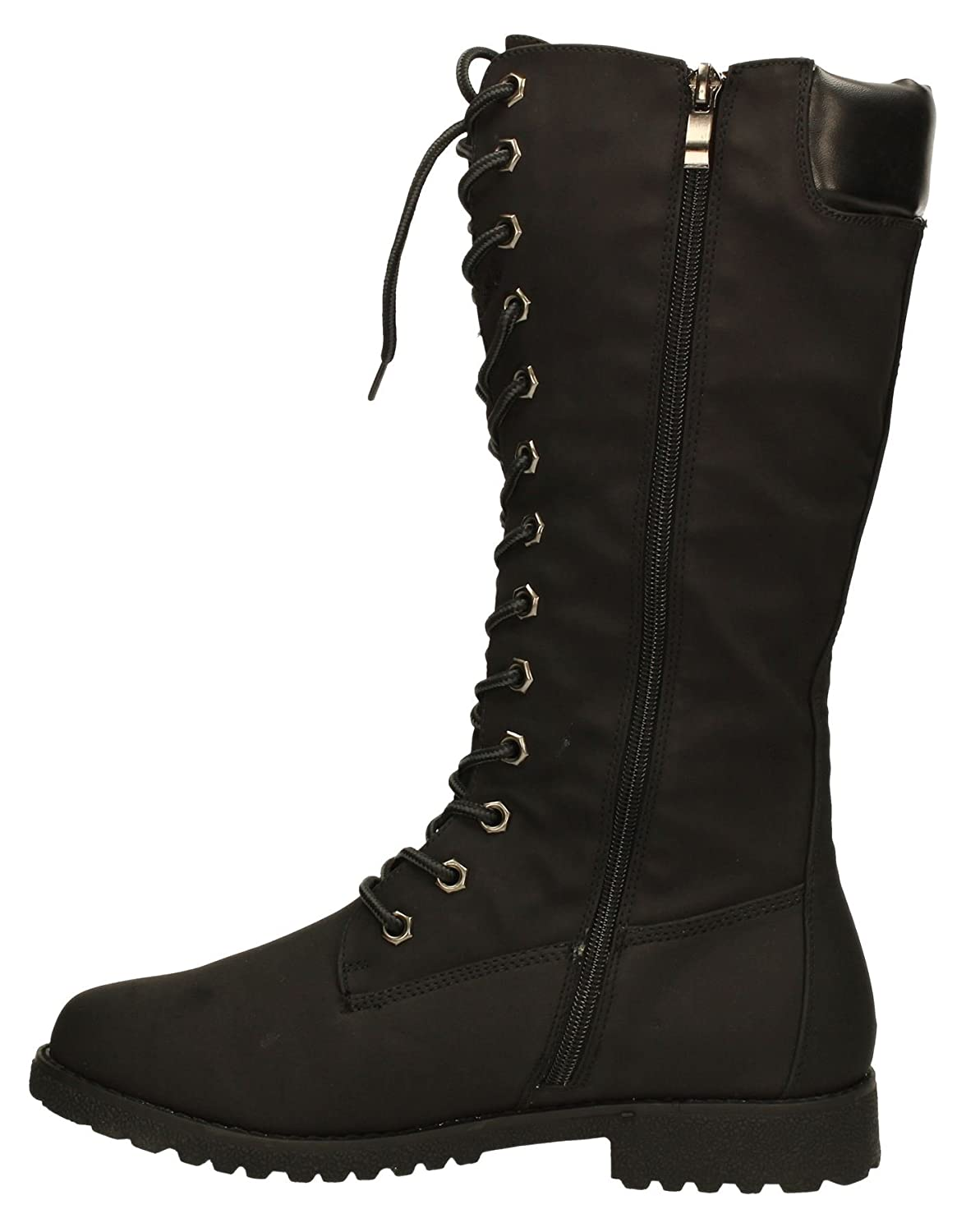 Ralph Timber Lace up Detail Womens Long Knee High Calf Suede