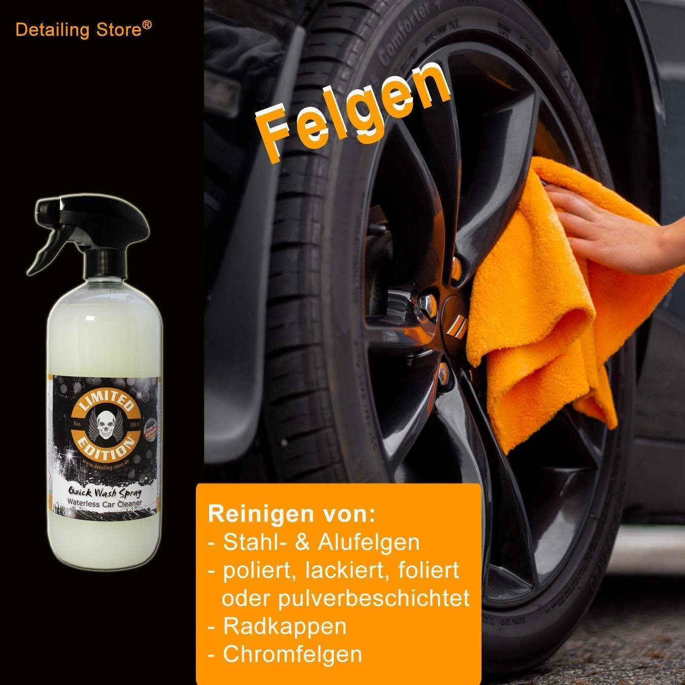 Limited Edition Trockenreiniger Quick Wash Spray Waterless Car Cleaner Für Lack Und Folie Ohne Wasser Auto Waschen Für Innen Und Außen Mango Duft 1 0 Liter Auto