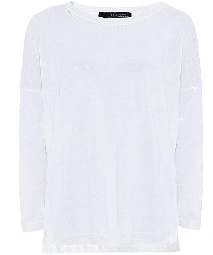 360 Sweater Mujeres puente nuevo estrellas aruna lino Blanco Y Oliva L