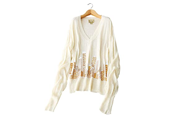 5005fa97fef1 YISHI Women s Sweater Long Sleeve V-Neck Slit Loose Top Oversized ...