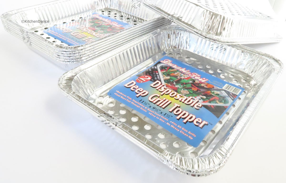 Durable Disposable Aluminum BBQ Grill Toppers/Grill Woks (20) by Durable Packaging (Image #2)