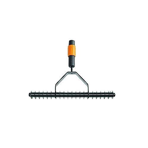 Fiskars Scarificateur manuel, Tête d'outil QuikFit, Largeur: 37 cm, Noir/Orange, QuikFit, 1000655