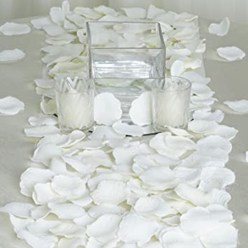 balsacircle 2000 silk rose petals wedding decorations bulk supplies ivory