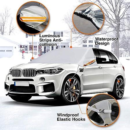 f/ür vorne und hinten faltbar 130 x 60 cm Queenaal Auto-Windschutzscheiben-Sonnenschutz reflektierend silberfarben