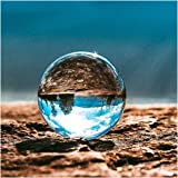 Clear Crystal Ball with Crystal stand, Kioneer 80mm Magic Ball Decoration Ornaments for Home, Party & Show(3.14in)