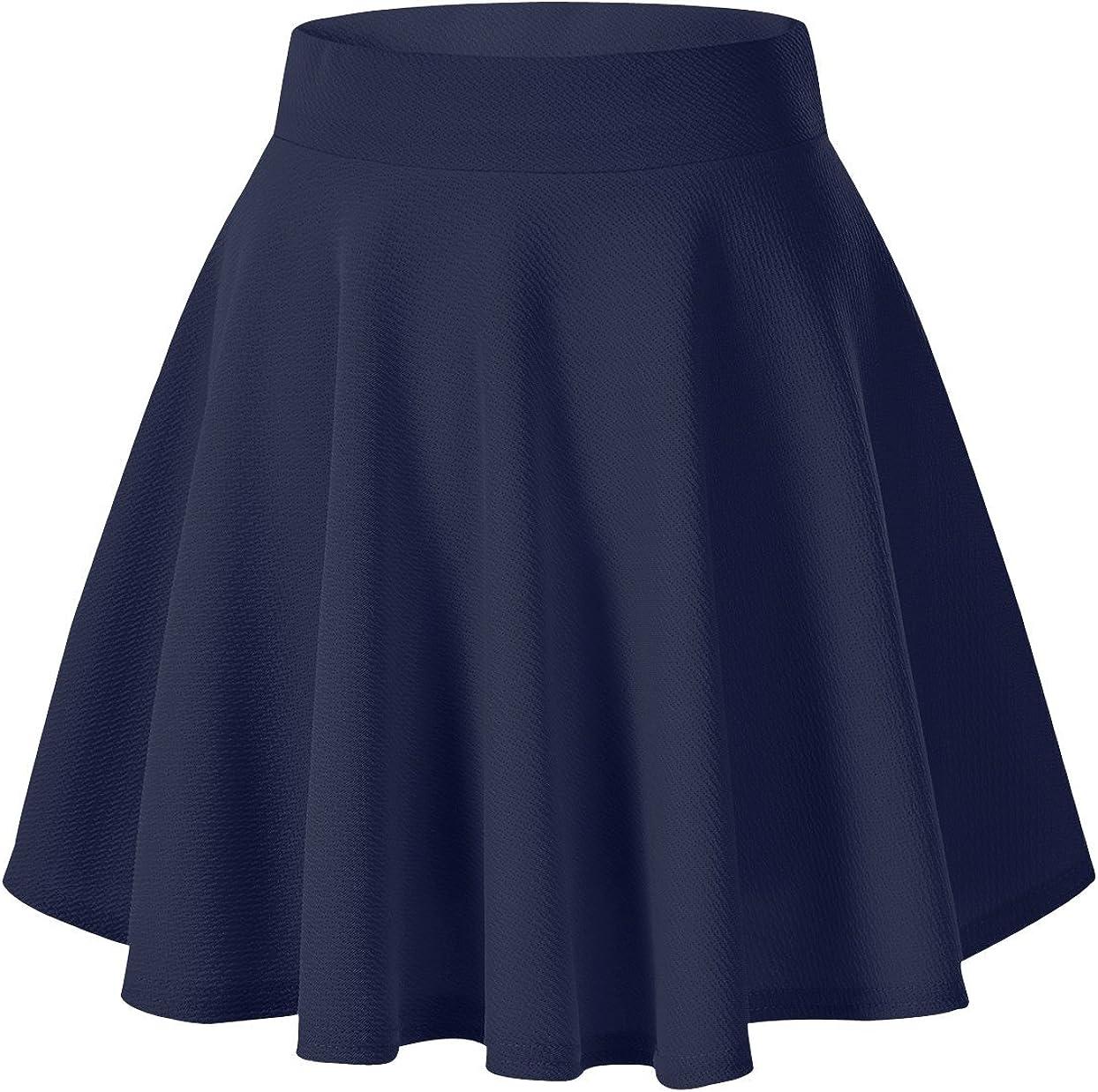 Urban GoCo Falda Mujer Elástica Plisada Básica Patinador ...