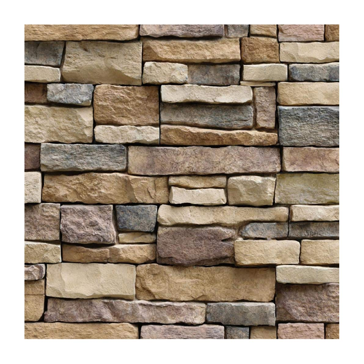 Whitegeese Peel and Stick Tile Backsplash Self-Adhesive Wall Tiles for Home, Natural Brick Pattern