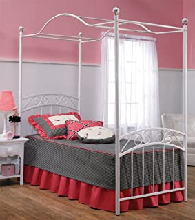 Hillsdale Furniture 1864BFPR Emily Bed Set with Canopy and Rails Full White : princess emily canopy bed - memphite.com