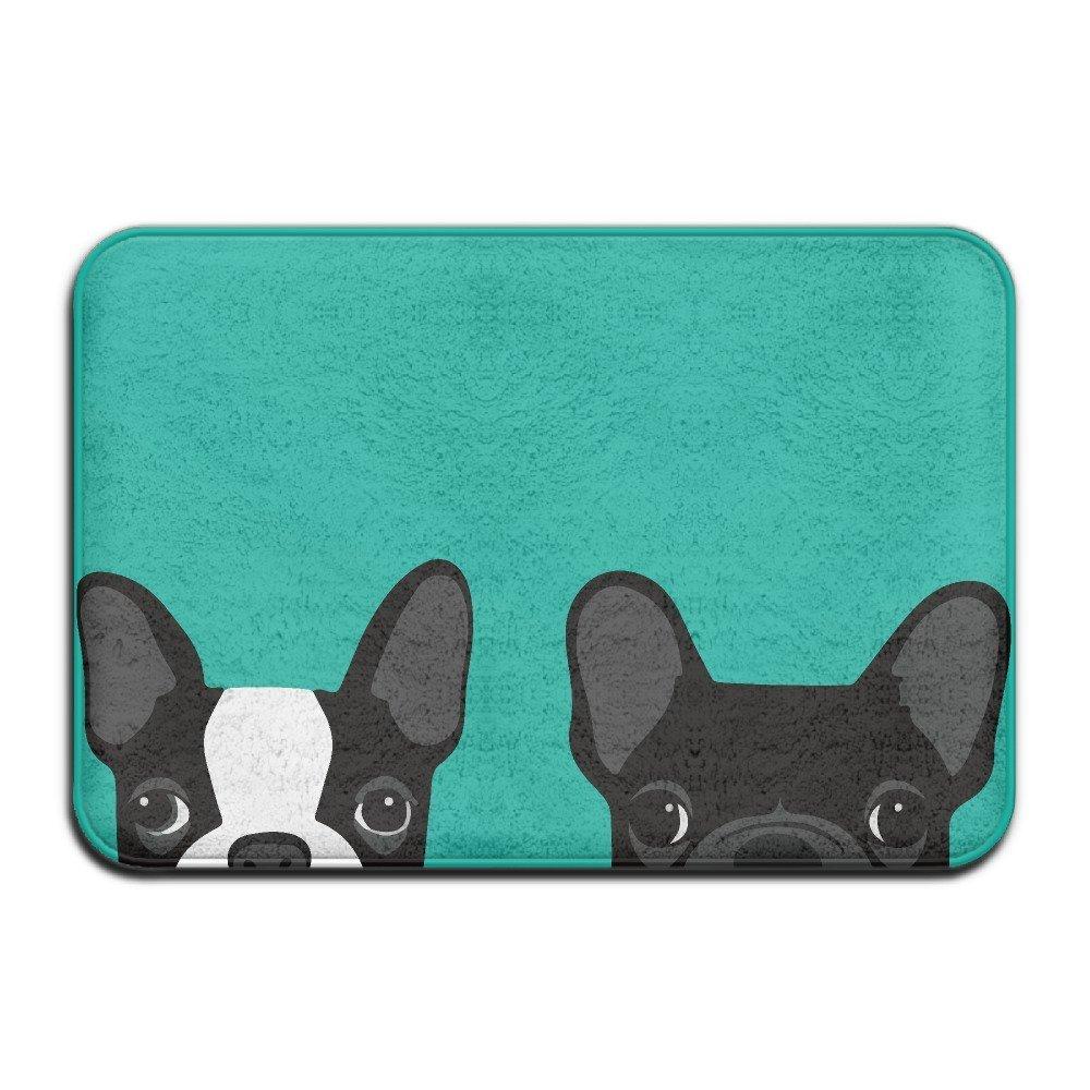 Boston Terrier And French Bulldog Doormats Anti-slip House Garden Gate Carpet Door Mat Floor Pads