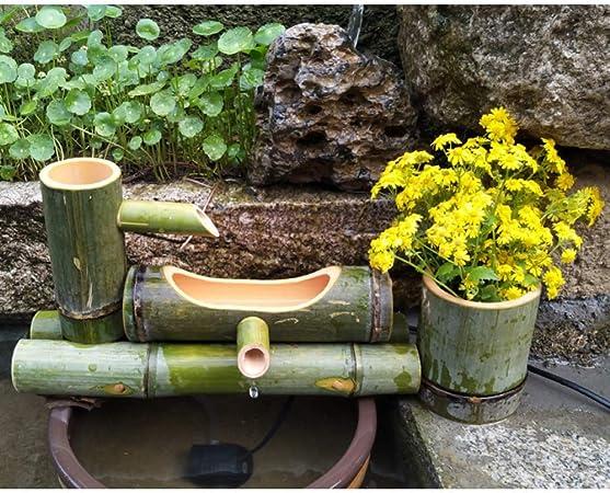 LJYY Fuente de bambú Decoración de jardín japonés Característica de Cascada de Feng Shui, Longitud45cm: Amazon.es: Hogar
