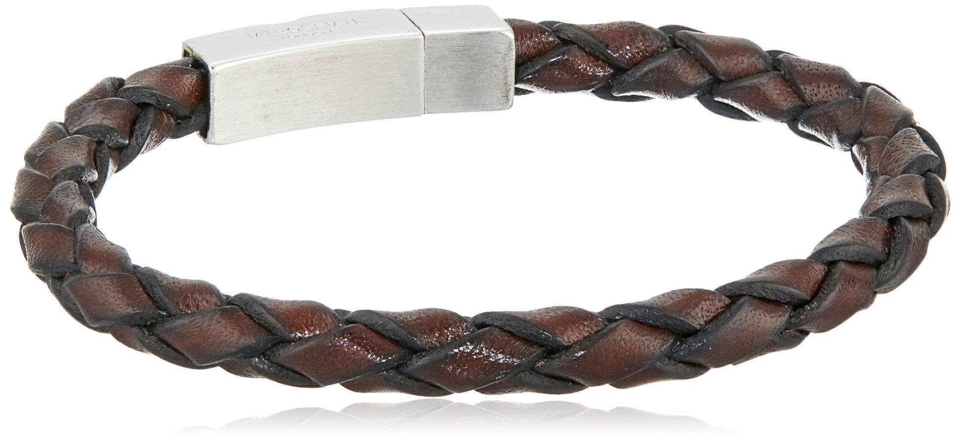Tateossian Men's Scoubidou Medium Brown Single Leather Wrap Bracelet