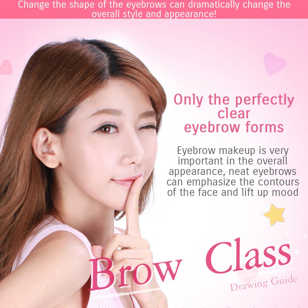 Amazon Bioaqua Brow Class Natural Straight Shape Eyebrow Card