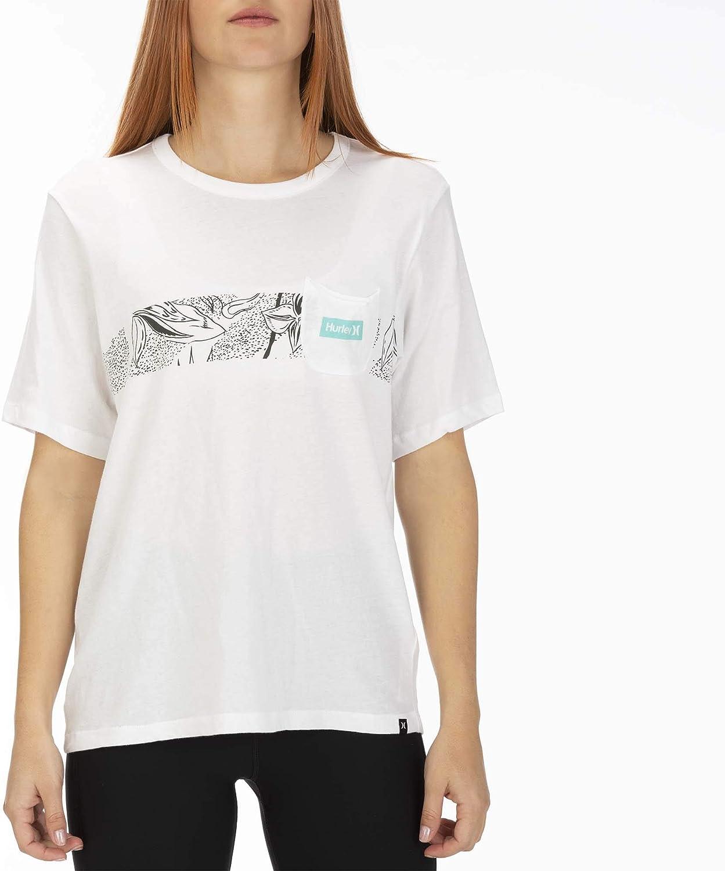 Camisetas Mujer Hurley W Domino Stripe Pocket Crew