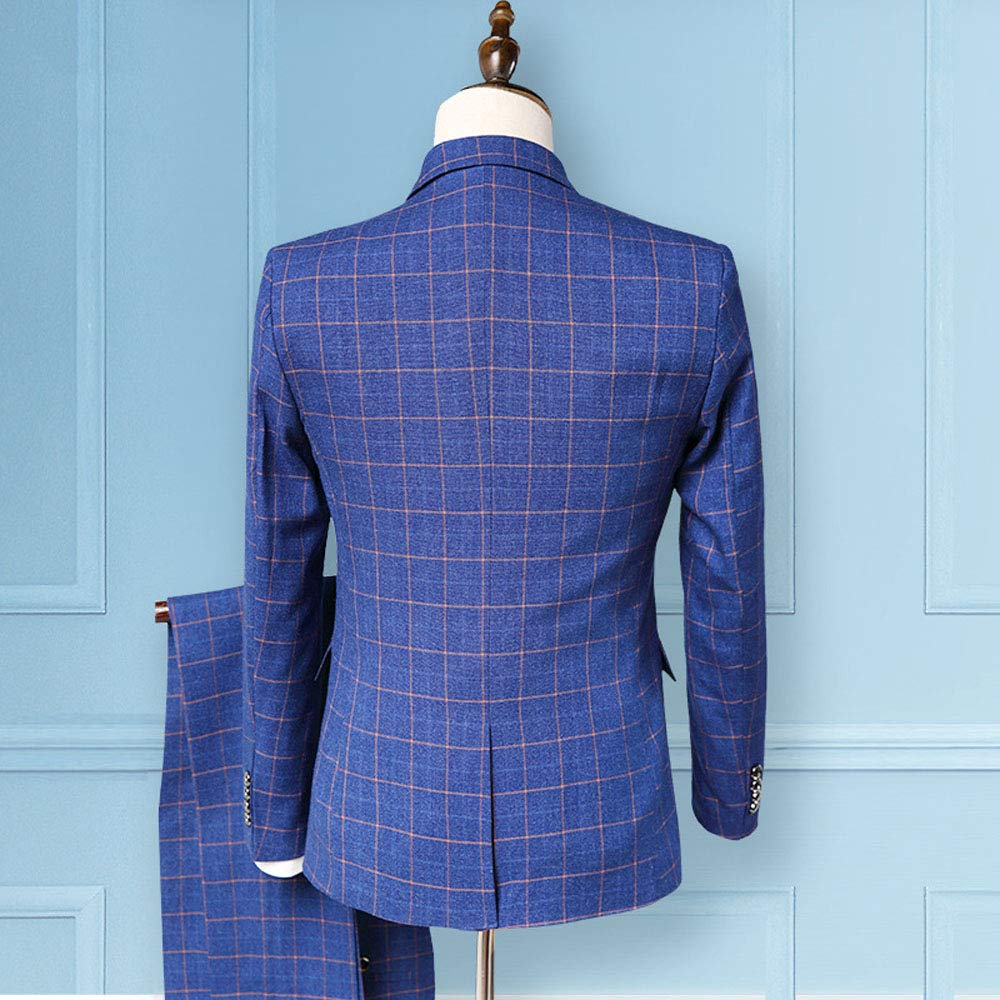 AnnaApparel Men/'s Suit Slim Fit One Button Jacket,3-Piece Tuxedo Suit Blazer Dress,Business Wedding Party Jacket Vest /& Pants