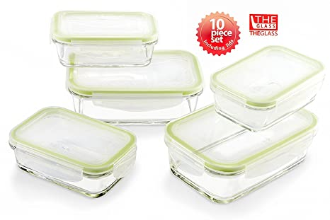 The Glass Clear and Clean Taste Eco Friendly Airtight Glass Food Storage Container - Rectangular (  sc 1 st  Amazon.com & Amazon.com: The Glass Clear and Clean Taste Eco Friendly Airtight ...