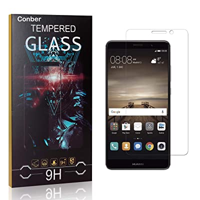 Conber Screen Protector for Huawei Mate 9, (1 Pack) 9H Tempered Glass Film Screen Protector for Huawei Mate 9 [Scratch-Resistant][Shatterproof]: Baby