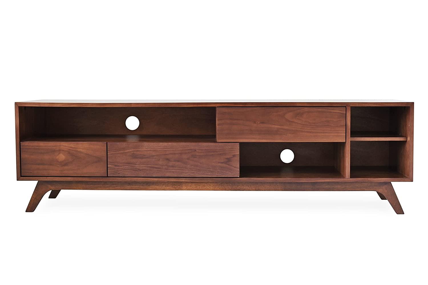 finest selection 21b43 9619d Edloe Finch PIPER Mid-Century Modern TV Stand, Cabinet with Storage, Walnut