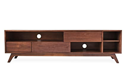 Edloe Finch PIPER Mid Century Modern TV Stand, Cabinet With Storage, Walnut
