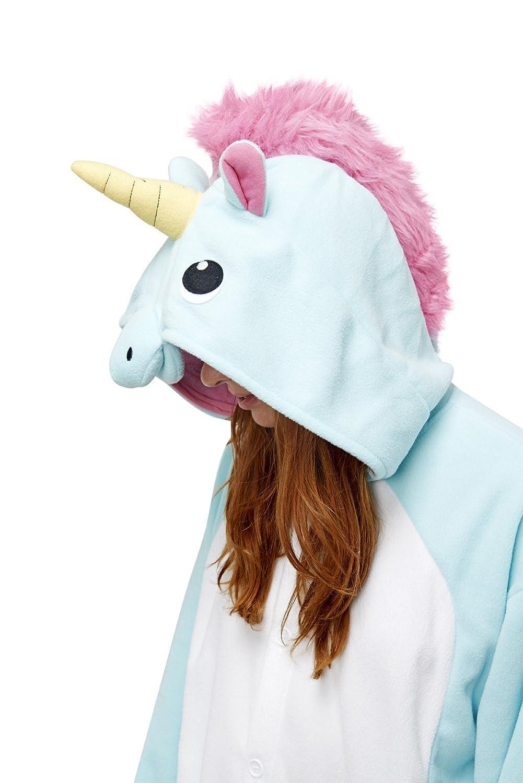 Sazac Unicornio Azul - Todo en un disfraz para adultos - Onesie Kigurumi: Amazon.es: Juguetes y juegos