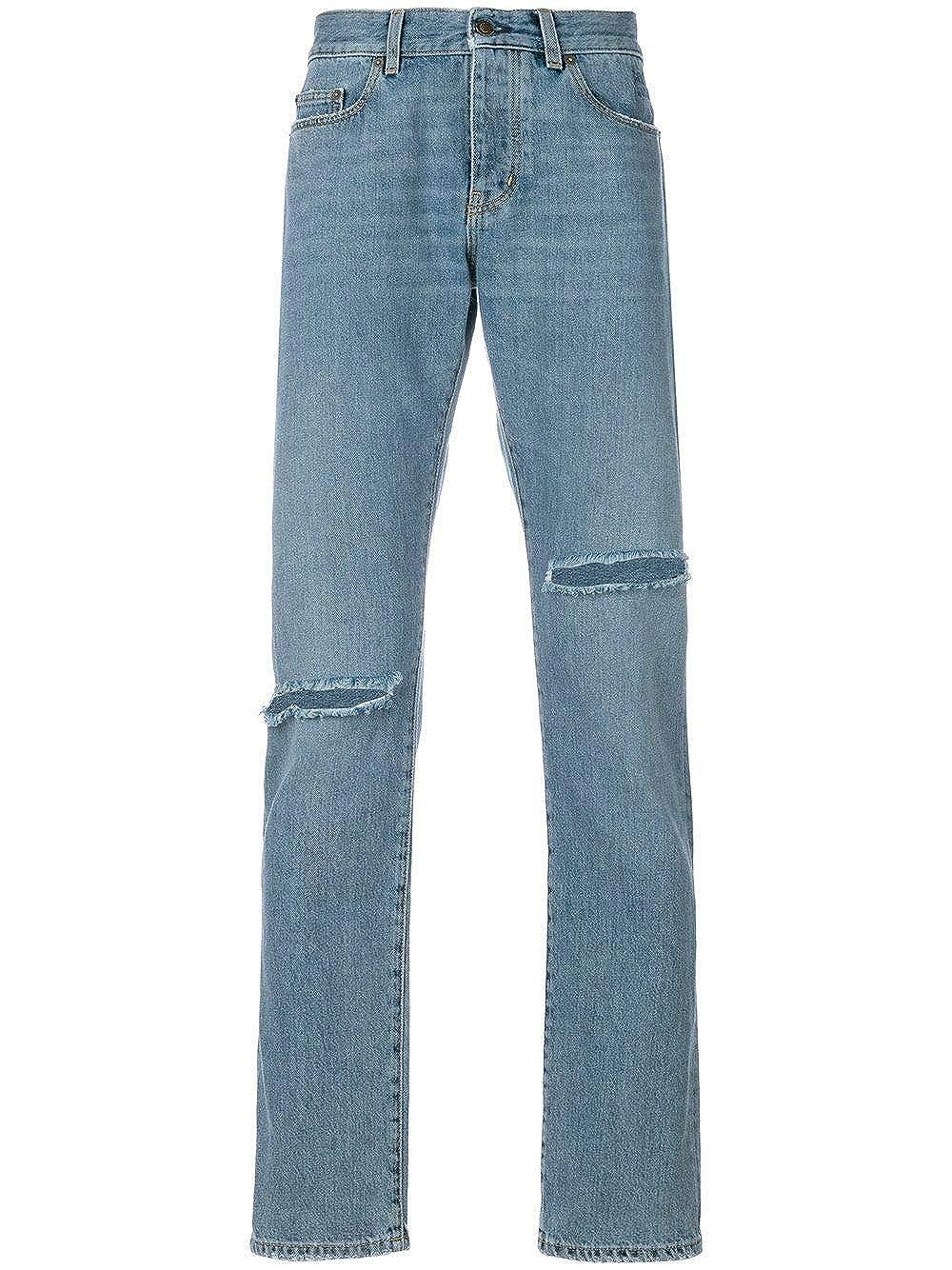 Saint Laurent Jeans Uomo Uomo Jeans 500723Y868M4061 Cotone Azzurro 5c6b4a 9784b427db9