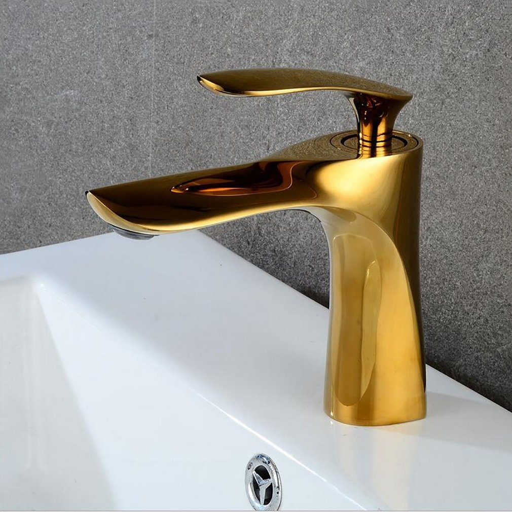 FeN Hot And Cold Taps,Bathroom Retro Basin Faucet,Single Spout Sink Brass Mixer,Hotel Tap by FeN