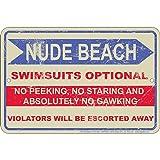 Signs 4 Fun SPSFN2 Nude Beach Small Parking Sign