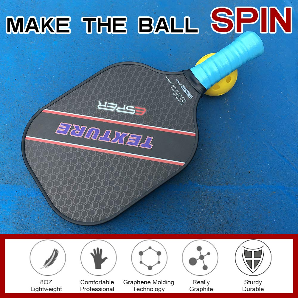 ESPER Pickleball Paddle Grafito superficie texturizada para Spin ...