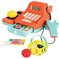 B. Toys by Battat Cash Register Toy Playset – Pretend Play Kids Calculator Cash Register with Accessories for 3+ (26…