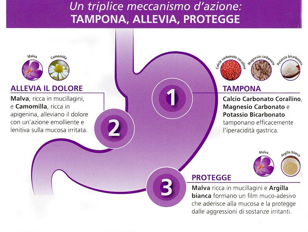 Biosline - calmacid 3 paquetes de 20 Tabletas, iperacidità, gastriti, pirosi: Amazon.es: Salud y cuidado personal