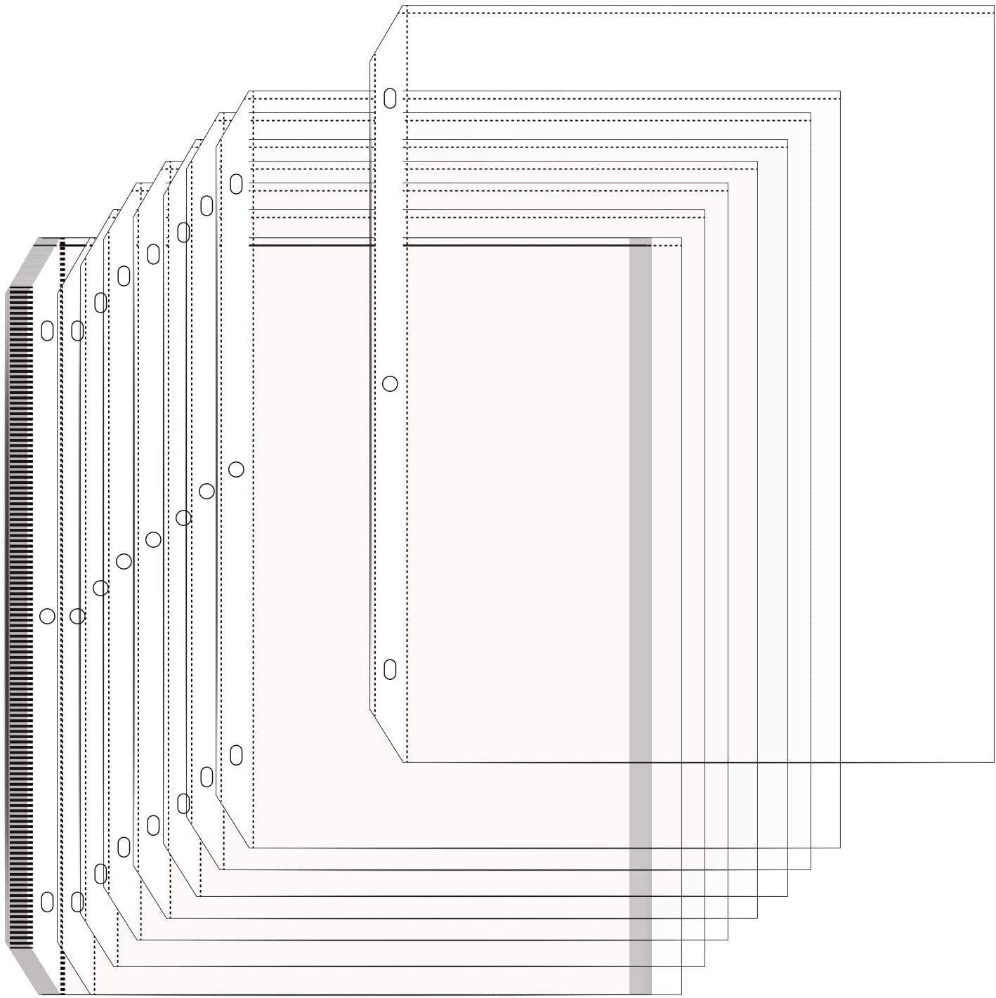 Arae Office Clear Sheet Protectors 8.5 x 11 inch with Standard 3-Ring Binder and Bevel Corner (Clear-200)