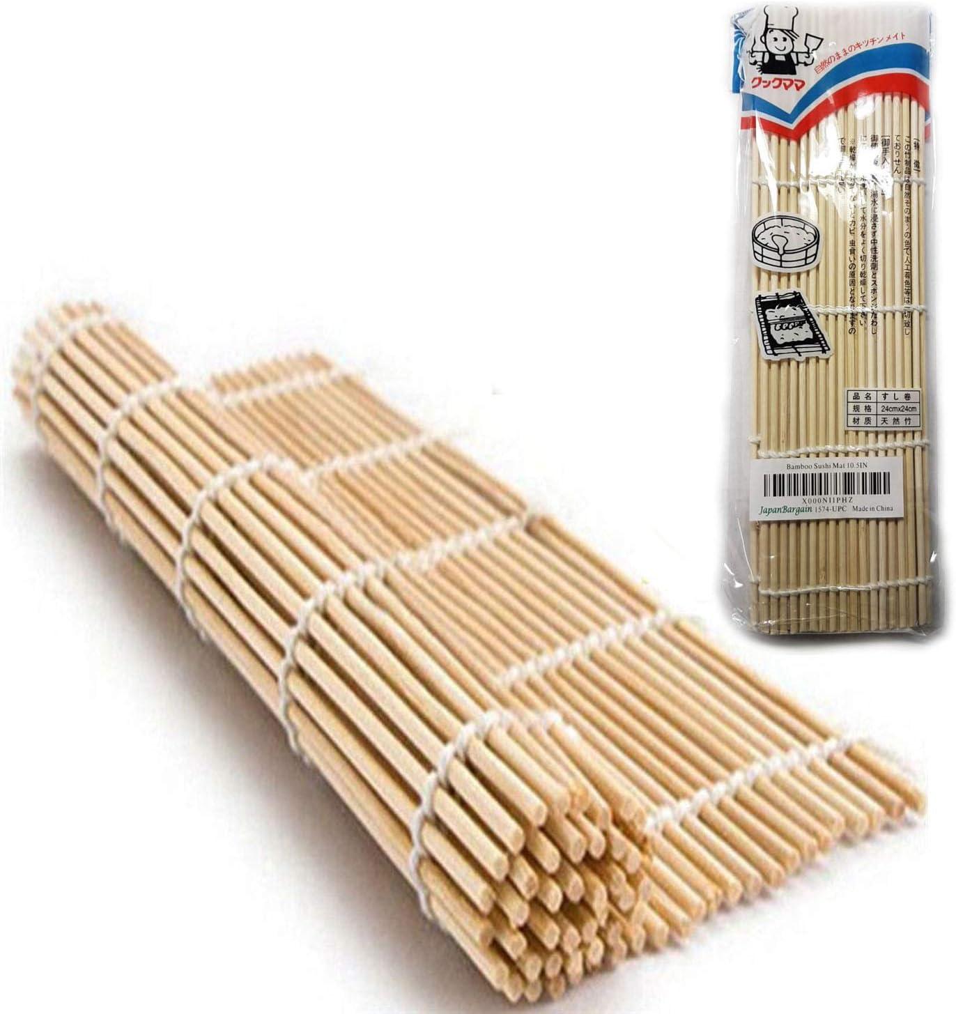 24x24cm UPKOCH 1 pieza Bamboo Sushi Roller Mat Square Premium Natural No t/óxico Rolling Sushi Rolling Bamboo Pad Fabricaci/ón de sushi Roller Sushi Making Tool