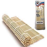 JapanBargain, Sushi Roller Bamboo Sushi Rolling Mat Maker Square (1, 10.5 inch Square)
