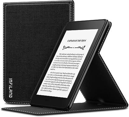 INFILAND Funda para Kindle Paperwhite (10th Gen, 2018 Releases), Super Delgada Soporte Frontal Cover Case con Auto Reposo/Activación Función, Negro: Amazon.es