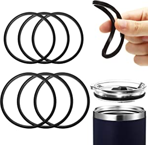 6 Pieces 30 Ounce and 20 Ounce Replacement Rubber Lid Seals Compatible Seals Lid Gaskets for 10, 12, 14, 16, 20 or 30 Ounce Compatible with Stainless Steel Tumblers